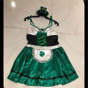 Cute Dreamgirl women's leprechaun costume. Size S.